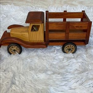 Vintage Wooden Stake Farm Hauling Toy Truck